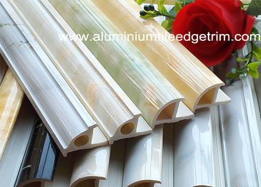 Rigid Tile Corner Trim PVC And Calcium Carbonate Powder Weather Resistant