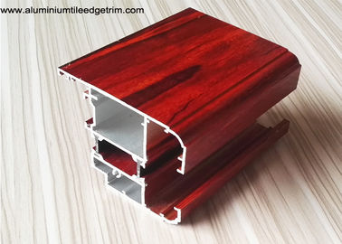 Thermal Break Wood Grain Aluminium Casement Window Profile For Apartment Project