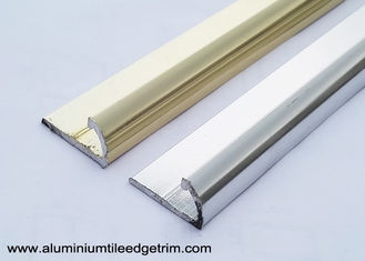 Semi Round Aluminium Tile Edge Trim Polished Light Golden And Silver