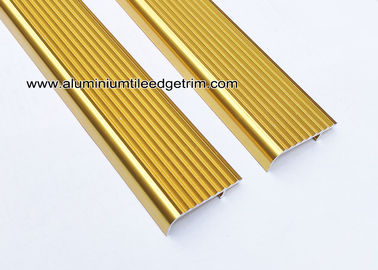 Embedding Aluminum Stair Edge / Edging  With  Shiny Golden 45mm x 15mm