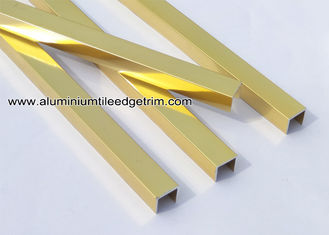 10mm Shiny / Glossy Gold Aluminum U Shaped Tile Brace / Splint / Channel U10